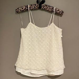 NWT STRAPPY LINED LACE TANK SMALL